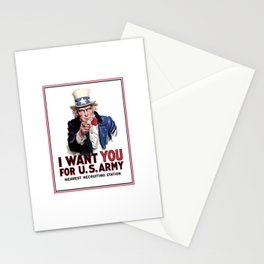 I Want You - Uncle Sam Stationery Cards