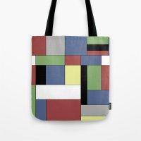 mondrian Tote Bags featuring Mondrian #5 by Ron Trickett (Rockett Graphics)