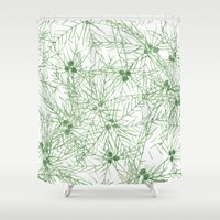 palm tree Shower Curtains featuring palm tree by mondebettina