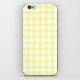 Diamonds - White and Pastel Yellow iPhone Skin
