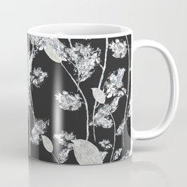 white leaf pattern Coffee Mug