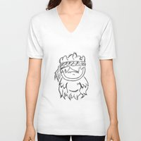 ganesh V-neck T-shirts featuring GANESH by Bowo baghaskara