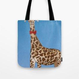 Giraffe Wearing Bowtie Tote Bag