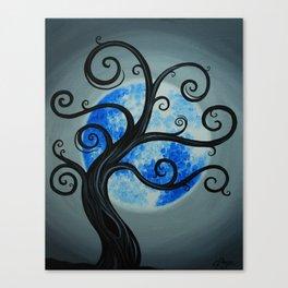 Funky Tree Blue Moon Canvas Print