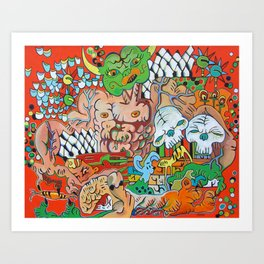 The Demon Carnival Art Print