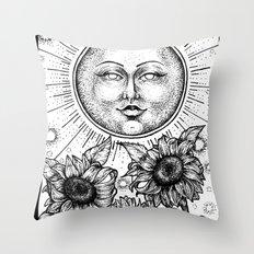 Sun Tarot Throw Pillow