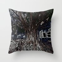 fig Throw Pillows featuring Fig by Shemaine