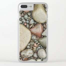 Rocks on the beach Clear iPhone Case