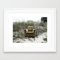 sofa Framed Art Prints featuring Sofa by Mario Sa