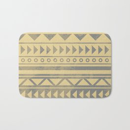 Ethnic geometric pattern with triangles circles and lines Bath Mat