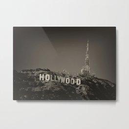 Vintage Hollywood sign Metal Print