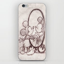 Mouse in the Mirror iPhone Skin