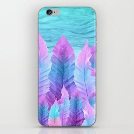 Underwater Leaves Vibes #1 #decor #art #society6 iPhone Skin