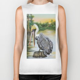 Louisiana Sunrise Biker Tank