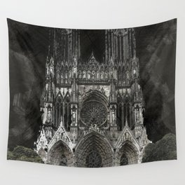 Cathedral Black Wall Tapestry