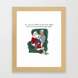 Holiday Wishes (2017 edition) Framed Art Print