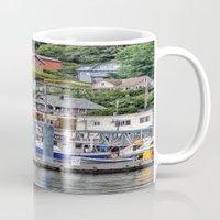 alaska Mugs featuring Alaska by Christine Workman