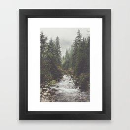 Mountain creek - Landscape and Nature Photography Framed Art Print