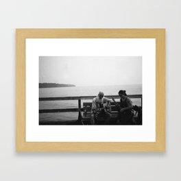 Pier Buskers Framed Art Print