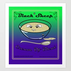 Black Sheep Cream Of Bleat Art Print