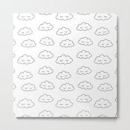 Dreaming clouds in black and white Metal Print