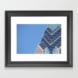 Glass, Steel, and Sky Framed Art Print