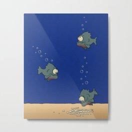 Feed The Fish Metal Print