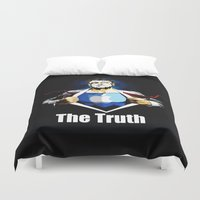 true blood Duvet Covers featuring True by Tony Vazquez