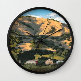Regusci Winery - Napa Valley Wall Clock