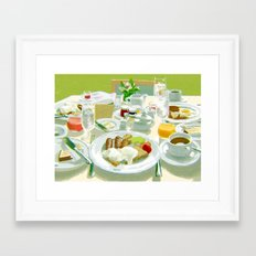 Breakfast at a Hotel Framed Art Print