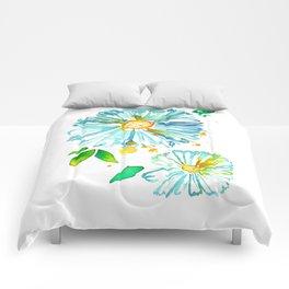 Lakeside Watercolour Blue Daisies Comforters