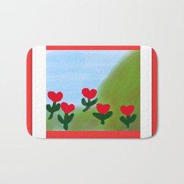 Hearts from a Rose Bath Mat