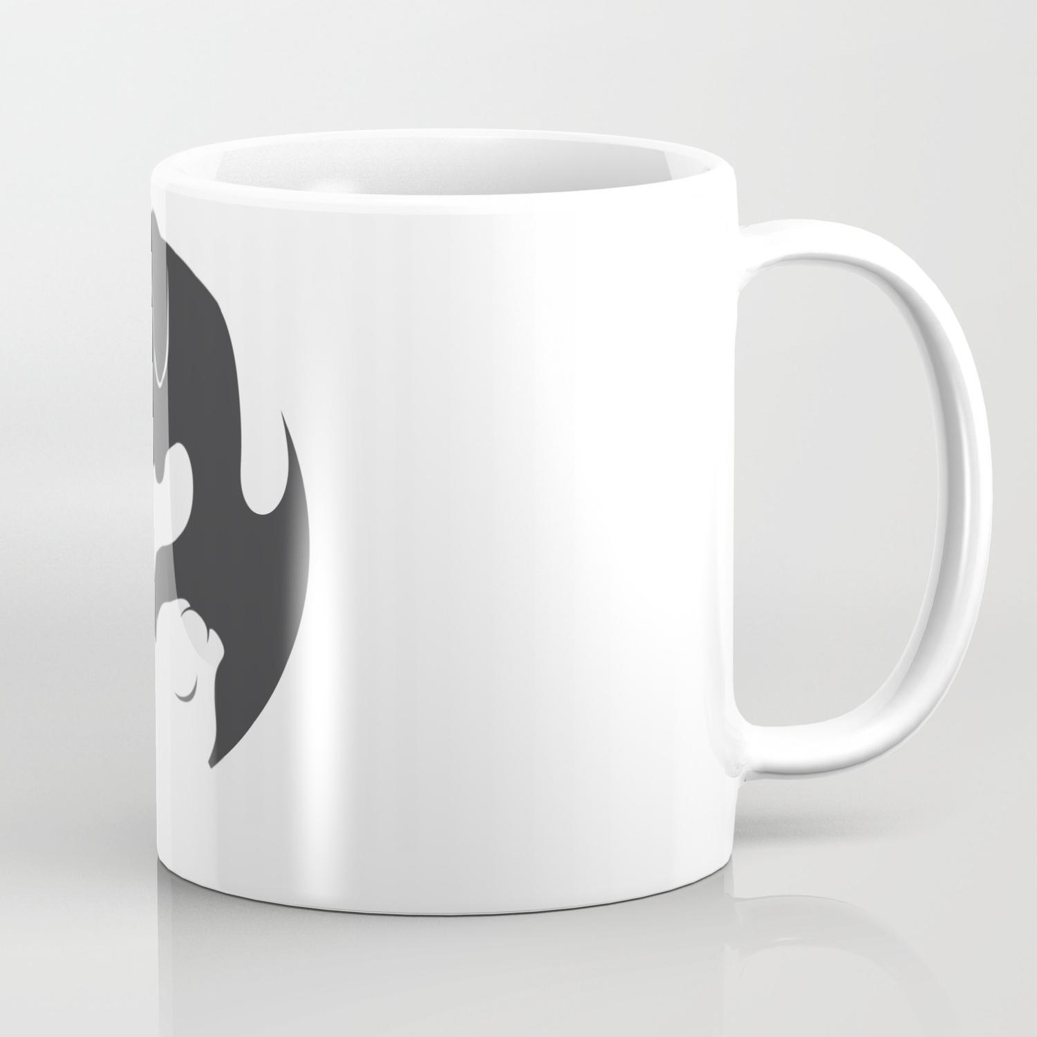 Yin Yang Dog Cat Couple Matching Cartoon Shirt Men Womens Coffee Mug By Born Design Society6