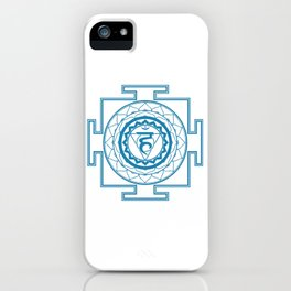 Sri Yantra Throat Chakra iPhone Case