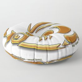 Queen Bee - The crest of Tracy Queen Floor Pillow