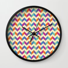 Coloured Chevron Wall Clock