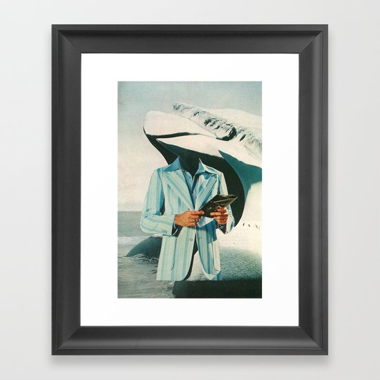 crisp, cool sophistication Framed Art Print
