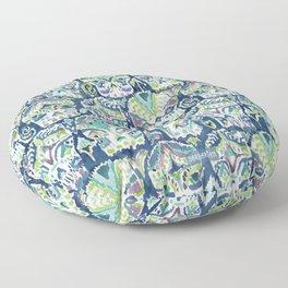 Indigo CARPE DIEM SKULLS Watercolor Floor Pillow