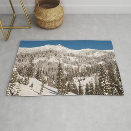 Image California USA Lassen Volcanic National Park Winter Spruce Nature park Snow Trees Parks Rug