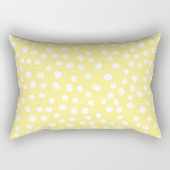 Pastel yellow and white doodle dots by seafoam12