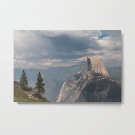 Half Dome - Yosemite National Park - Two Trees Metal Print