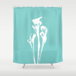 Calla Lily - Aqua Shower Curtain
