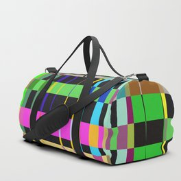 inclined coloured stripes Duffle Bag