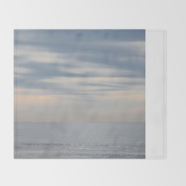Morning at the ocean Throw Blanket