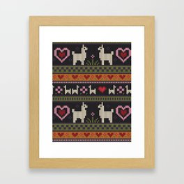 Llama Love Knit Framed Art Print