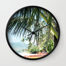 Aloha Sugar Beach Wall Clock