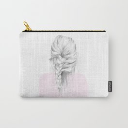 Braid in pink Carry-All Pouch