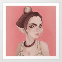 boho Art Prints featuring Boho by karolindie