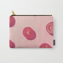 #4_Red Tomatoes in pink Carry-All Pouch