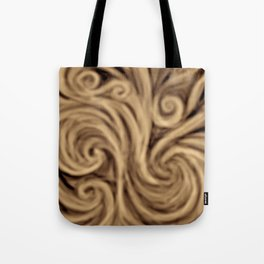 bohemian burnt sienna swirl pattern Tote Bag